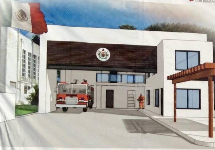 Avanza construcción de estaciones de bomberos
