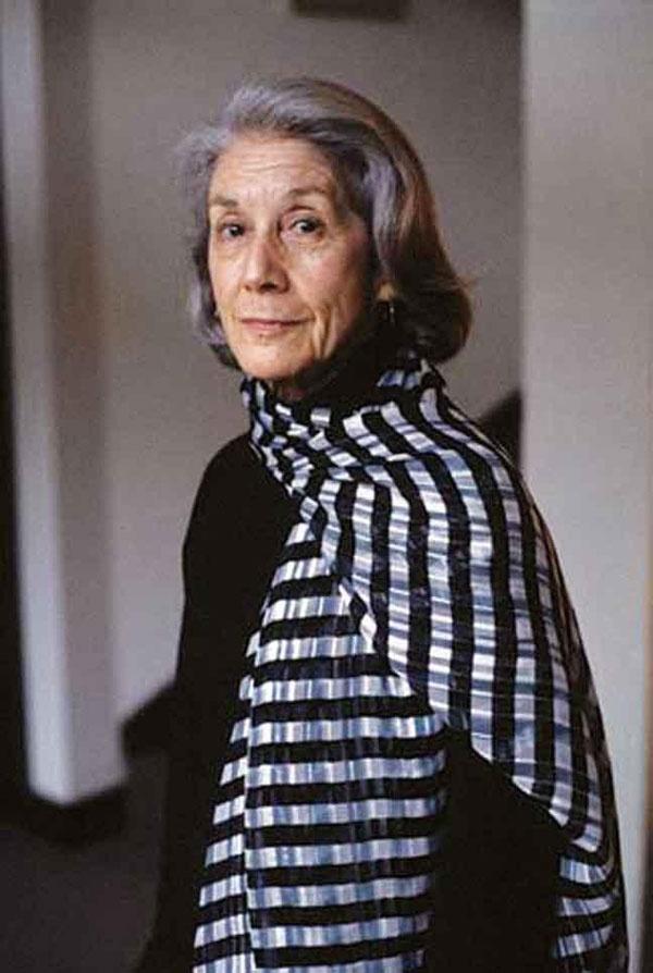Nadine Gordimer, escritora sudafricana ganadora del premio Nobel de literatura en 1991.