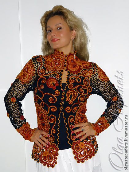 Freeform Crochet Jacket.