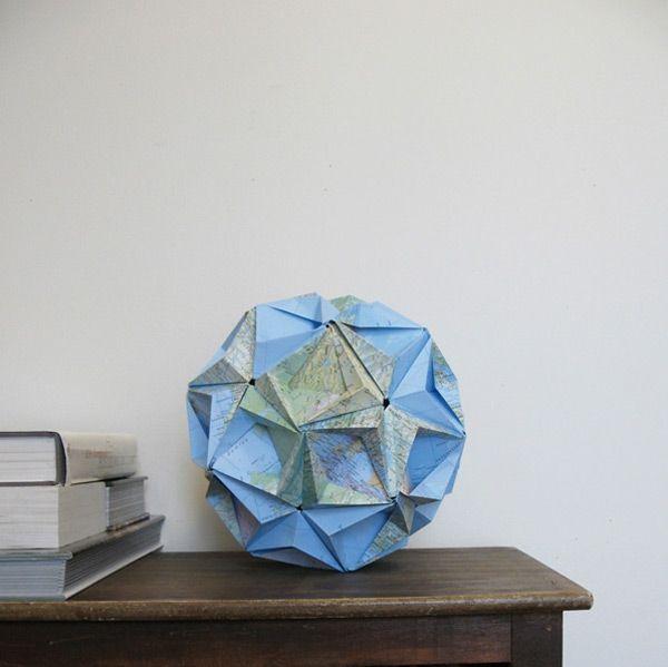 The Art of Geometry sculpture paper maps installation geometry geometric