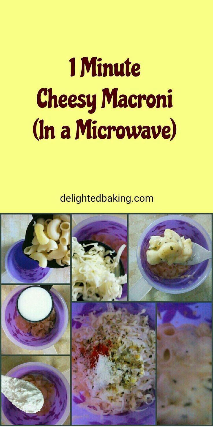 Cheesy macroni in a microwave mac and cheese easy mac
