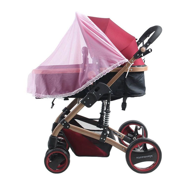 Soft Mosquito Net for Baby Stroller Half-Cover Infants Baby Carriage Prams Insect Protection Mesh Pink/Blue/White 110*90 cm