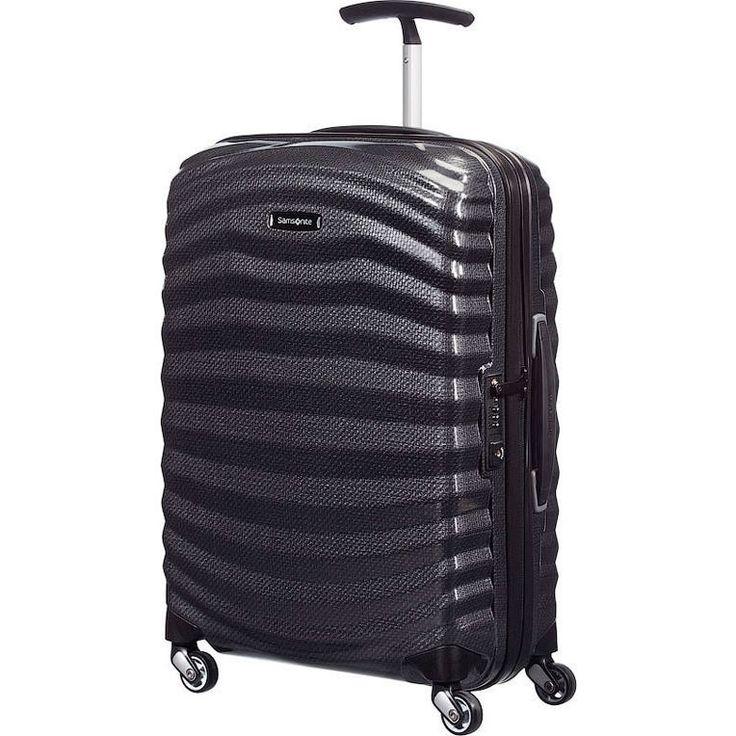 Samsonite Lite Shock Carry On Suitcase - Black 55cm | Buy Carry On Suitcases