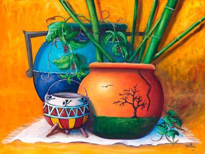 Imfpa Three Pots Painting Contemporary Wall Art on Shimply.com