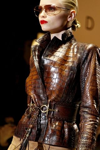 Beautiful: Women S, Fashion, Gucci Spring, Style, Leather Jackets, Brown, Crocodile Jacket, Coats