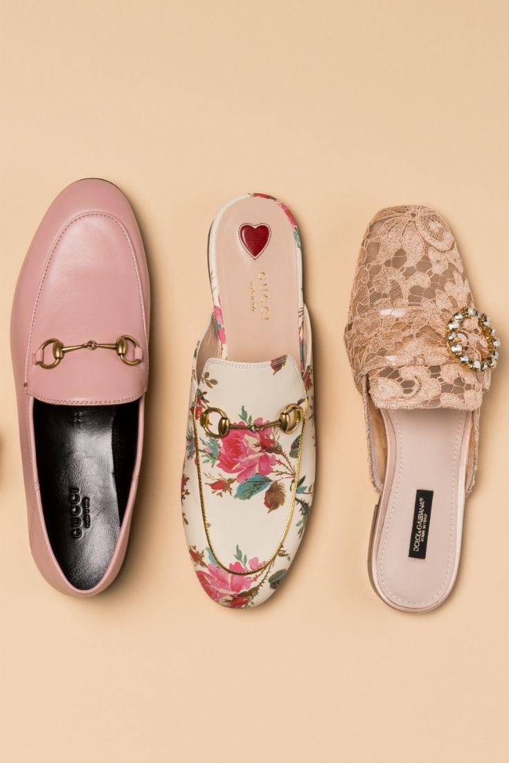 6c615370bb672 Ob Spitze, romantischer Print oder zarte Pastelltöne: wir lieben die  Slipper von Gucci &