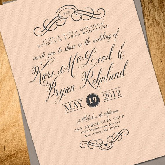 Wedding Invitations Elegant: 12 Best Images About Tangerine & Teal Wedding Theme On