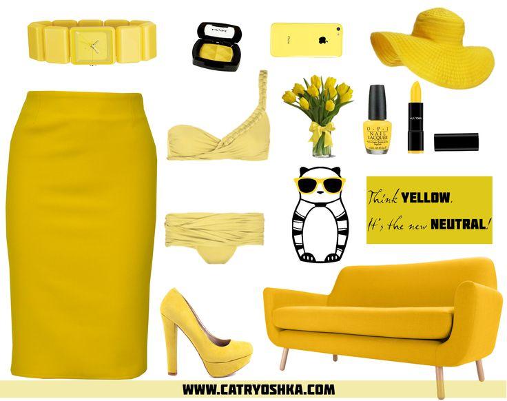 Think yellow. It's the new neutral!  www.catryoshka.com