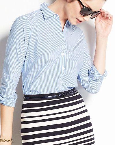 striped long sleeve shirt  http://rstyle.me/~1nrLw