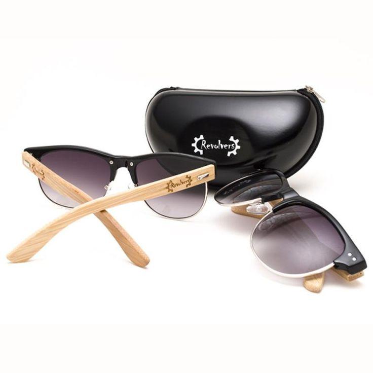 """Ξύλινα Γυαλιά Ηλίου Bamboo """"REVOLVERS"""" Clubmasters   €49.90"""