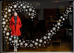 christmas Window Display Ideas   Seasonal Window Stickers for shop window displays