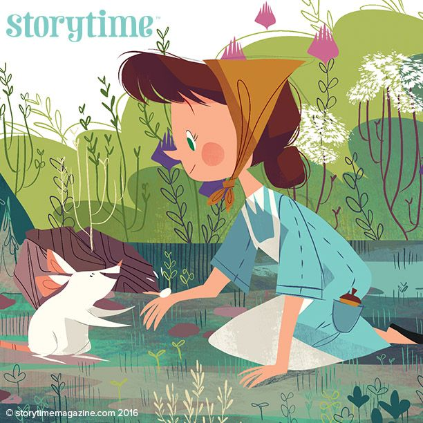Irina sets off to rescue her brother from Baba Yaga the witch in Storytime Issue 26! Illustrated by Zoe Persico (http://www.zoepersico.com) ~ STORYTIMEMAGAZINE.COM