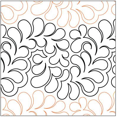 Bountiful Feathers Grande quilting pantograph pattern by Lorien Quilting