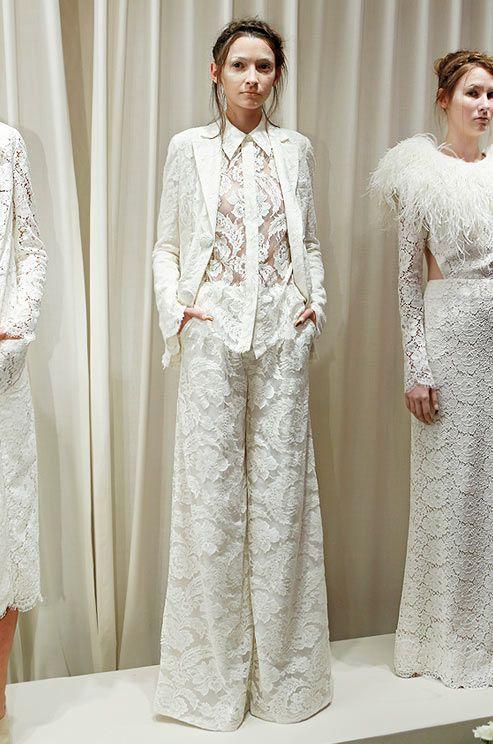 Dan & Corina Lecca, Houghton Bride, 2013 #wedding #pantsuitweddings #alternativeweddingideas