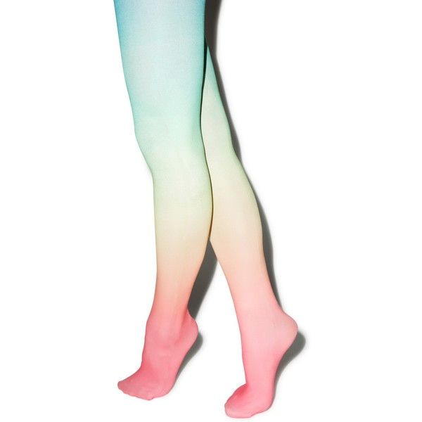 Pretty In Pastel Tights ($14) ❤ liked on Polyvore featuring intimates, hosiery, tights, opaque tights, nylon hosiery, opaque pantyhose, pastel tights and nylon stockings