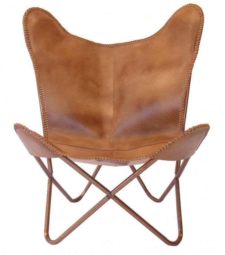Butterfly Chair Caramel Leather | Occasional Chairs | INTERIORS ONLINE