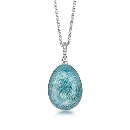 100 best faberge egg pendants ornaments images on pinterest faberg miniature egg pendant in hand engraved 18 carat white gold and covered entirely in deep teal blue enamel aloadofball Images
