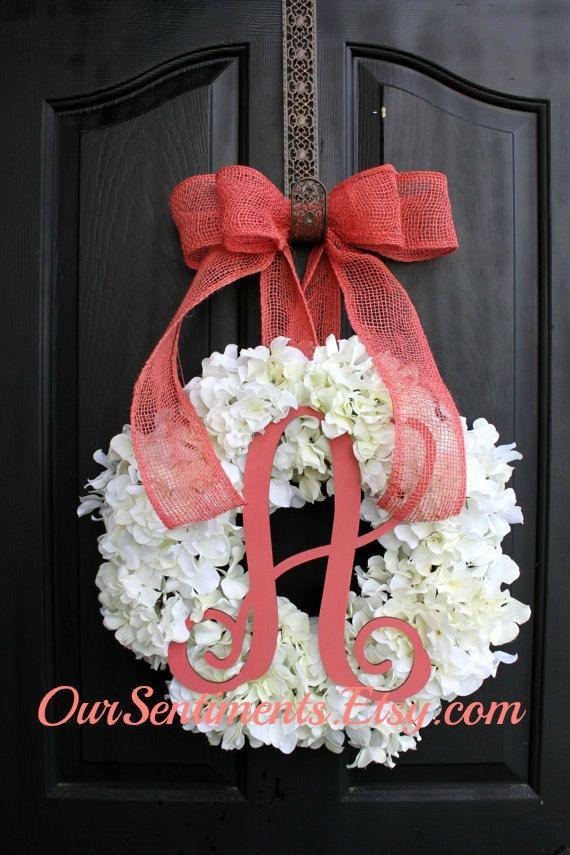 Hydrangea Wreath Spring Wreath for Summer Wreath door OurSentiments