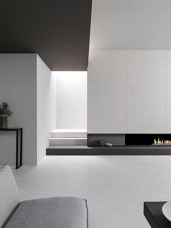 Porcelain stoneware wall/floor tiles with concrete effect XLIGHT STARK - @urbatek