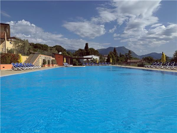 Pool in Manerba del Garda, Lake Garda, Italy