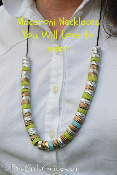 Fashionable Macaroni Necklaces #MothersDay #Fashion