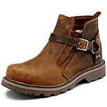 Saappaat - Tasapohja - Naisten kengät - Nahka - Ruskea - Ulkoilu / Toimisto / Rento / Urheilu / Juhlat -Comfort / Maihinnousukengät /