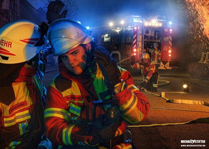 So geht es uns Feuerwehrmännern (und -frauen) bevor wir das kühlende Wasser am Rohr haben. Kann ganz schön heiss werden!
