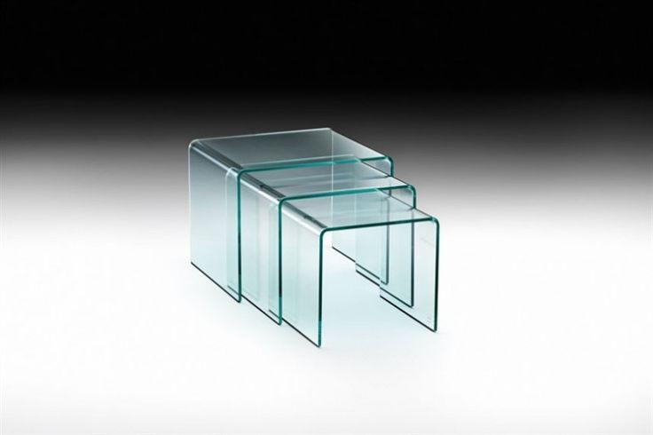 GlazenDesignTafel.nl | CRS FIAM bijzettafel Rialto Tris | Italian Design | vidre glastoepassingen, Leiden | vidre.nl