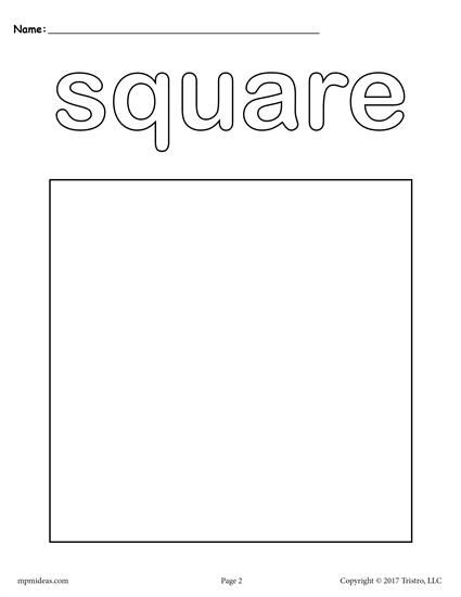 12 Shapes Coloring Pages Shapes