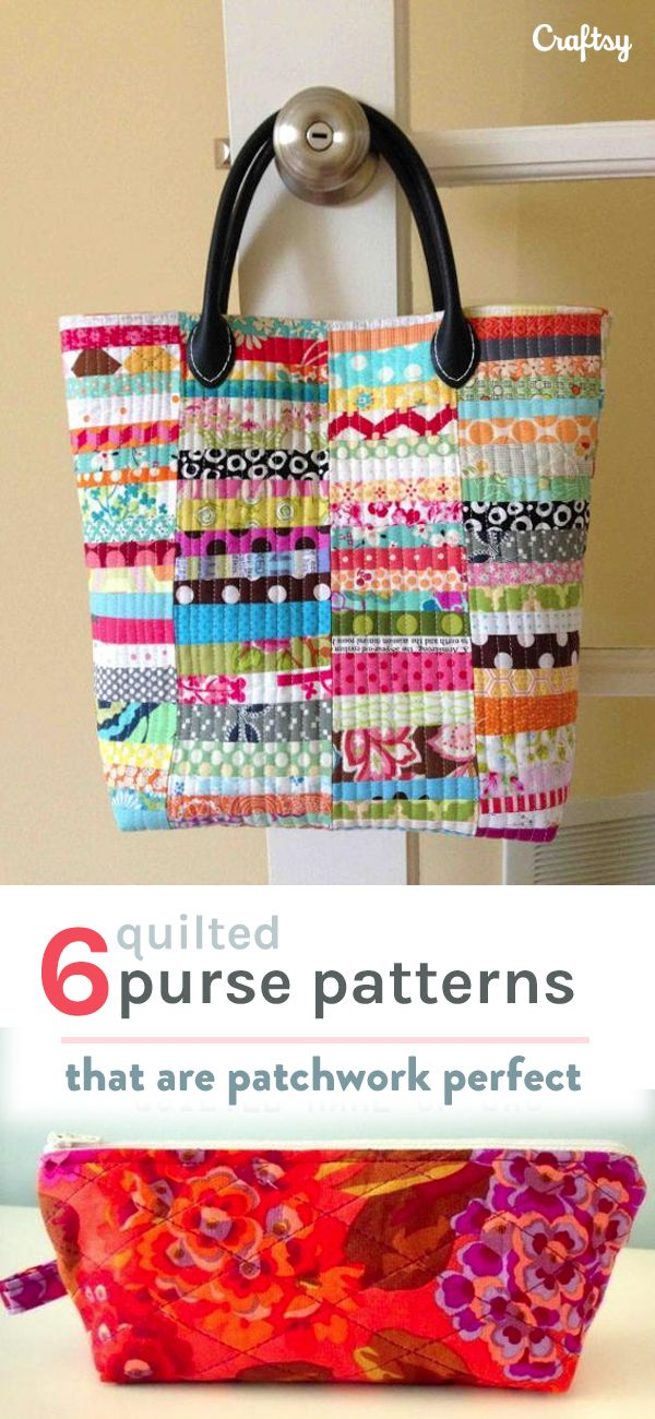 Treat yourself to a cute new patchwork purse! Craftsy has tons quilted purse patterns to meet any need. Here's a peek at 6 of our favorites.
