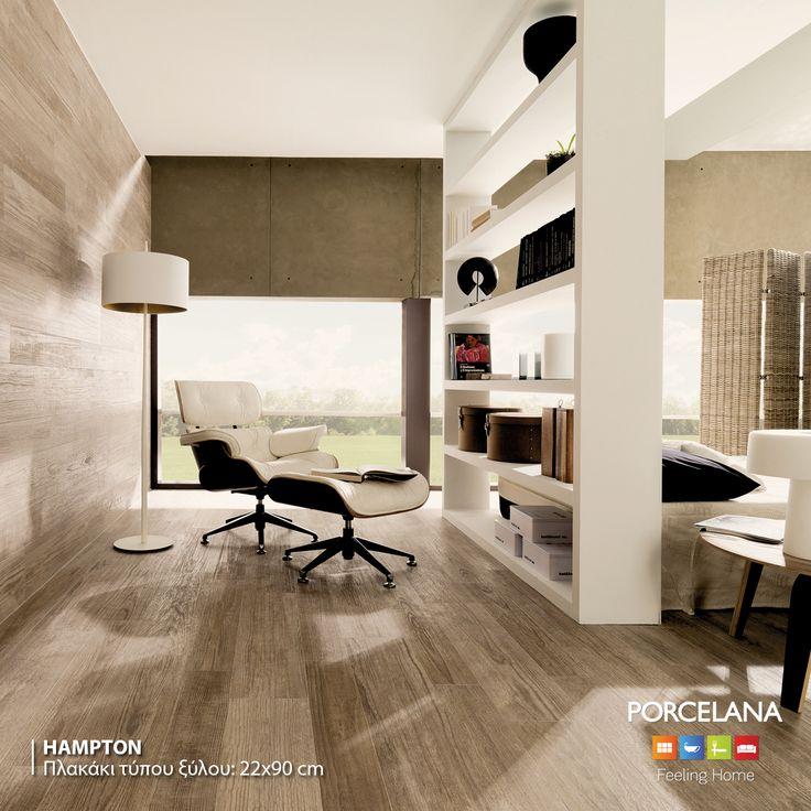 Photo: Πλακάκια τύπου ξύλου «Hampton», διαθέσιμα σε 3 αποχρώσεις. #porcelana #floortile #walltile #interiors