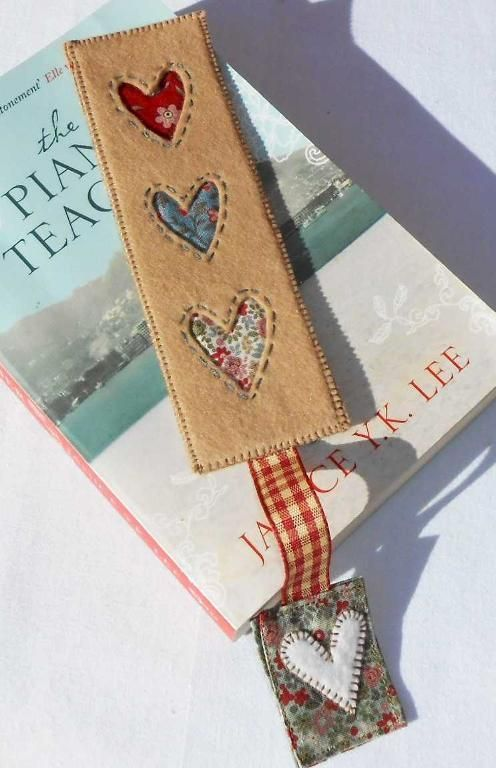 (9) Name: 'Sewing : Country Heart Bookmark pattern for free!!