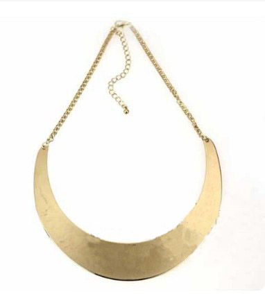 Gold Moon Mental Collar Chain Necklace
