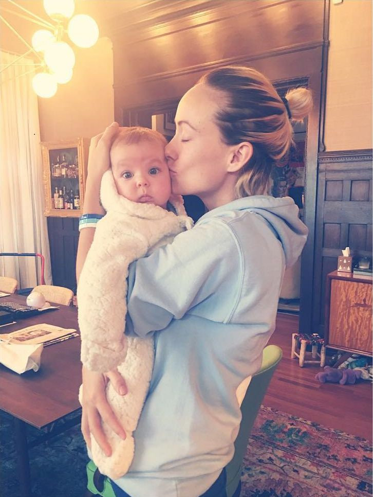 Olivia Wilde's baby has a giant hand
