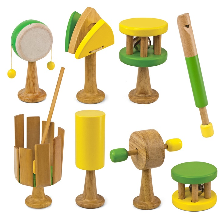 rattles are perfect for small hands and help improve motor skills! #green tones® #eco instruments & toys