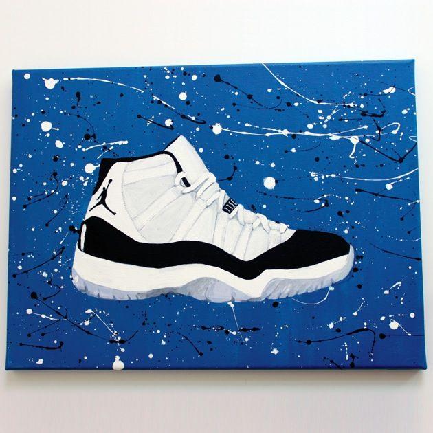 Jordan Retro XI- Concord Painting