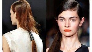 Coda di cavallo bassa di DKNY e Helmut Lang - NFW-S/S 2014 leggi tutto sul Blog Xtro Hair Care    http://xtrohaircare.com/wp/blog/2014/06/30/xtro-press-coda-il-trand-che-vince/