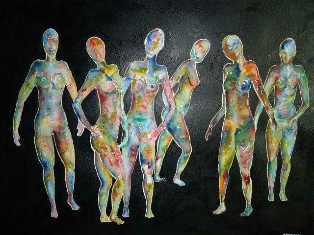 Art. Watercolor & acryl