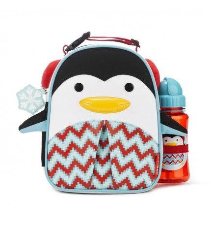 Lanczówka Zoo Winter Pingwin z bidonem Skip Hop