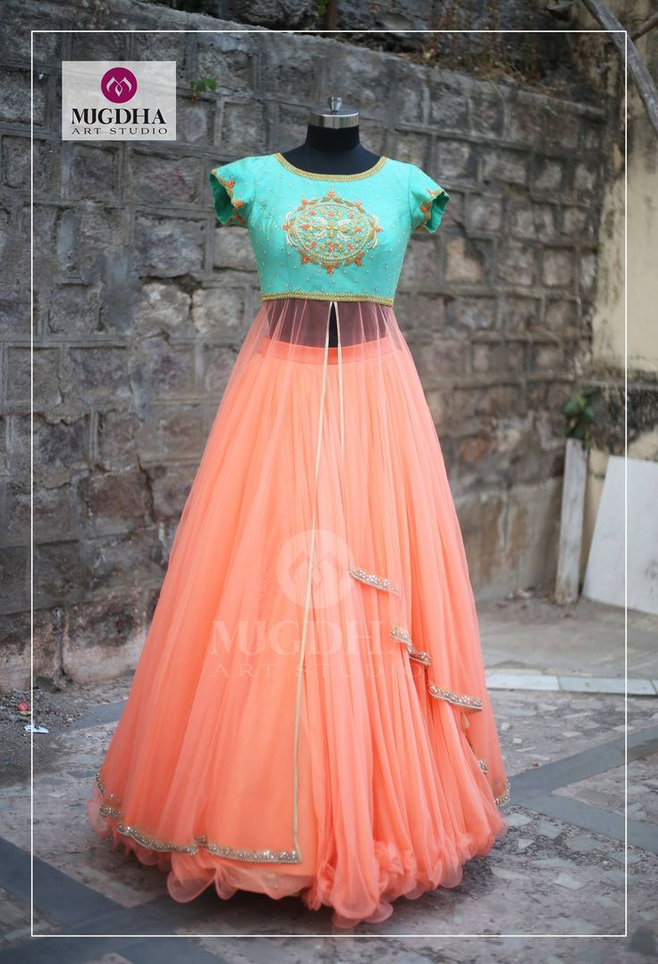 Beautiful outfit from  MugdhaartStudio . we can customize the color and size as per your requirement For orders :8142029190/9010906544(Whatsapp)Call us on -9949047889  17 March 2017
