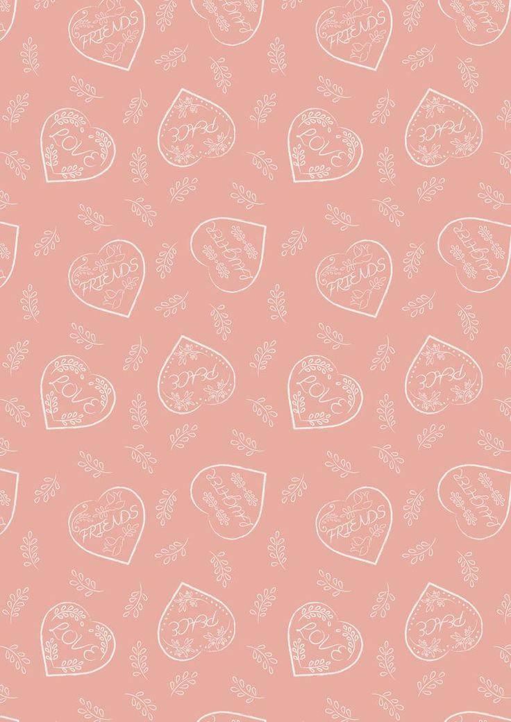 A166.2 - Chalk hearts on blush pink