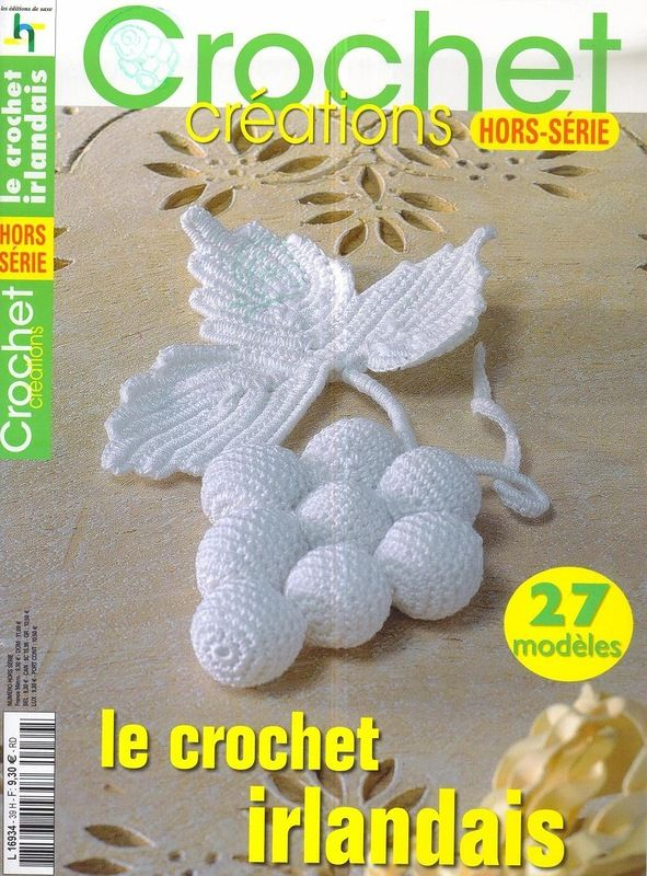 Irish crochet motif and flowers