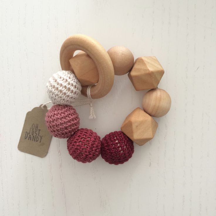 Crochet and Wood Teething Ring – The Sweet Fox