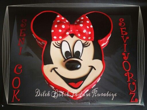 #Minnie Mouse Cake #Minnie mouse pasta