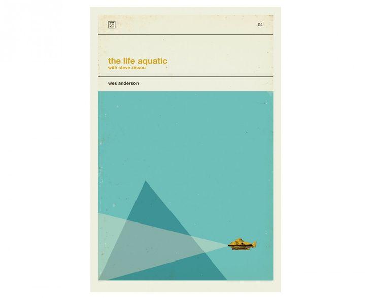 Des affiches rétro-minimalistes pour les films de Wes Anderson