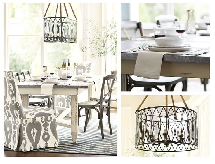 What a lovely gray white dining room ballard designs for Ballard designs dining room