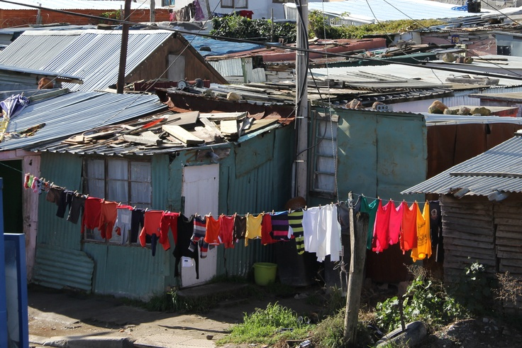 Slum in South Africa where educare project is located