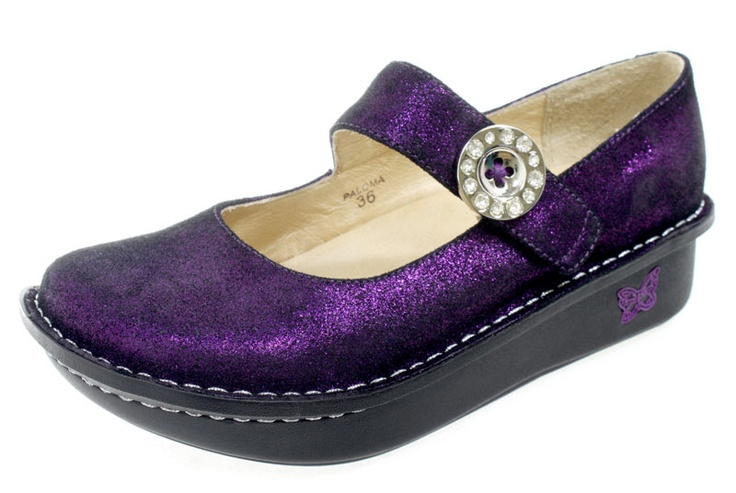 Alegria Paloma Purple Soft Metallic Shoe PAL-209 - PG Lite