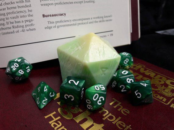 D20 Dice Soap With 7 Piece Polyhedral Dice Set With Bag Etsy