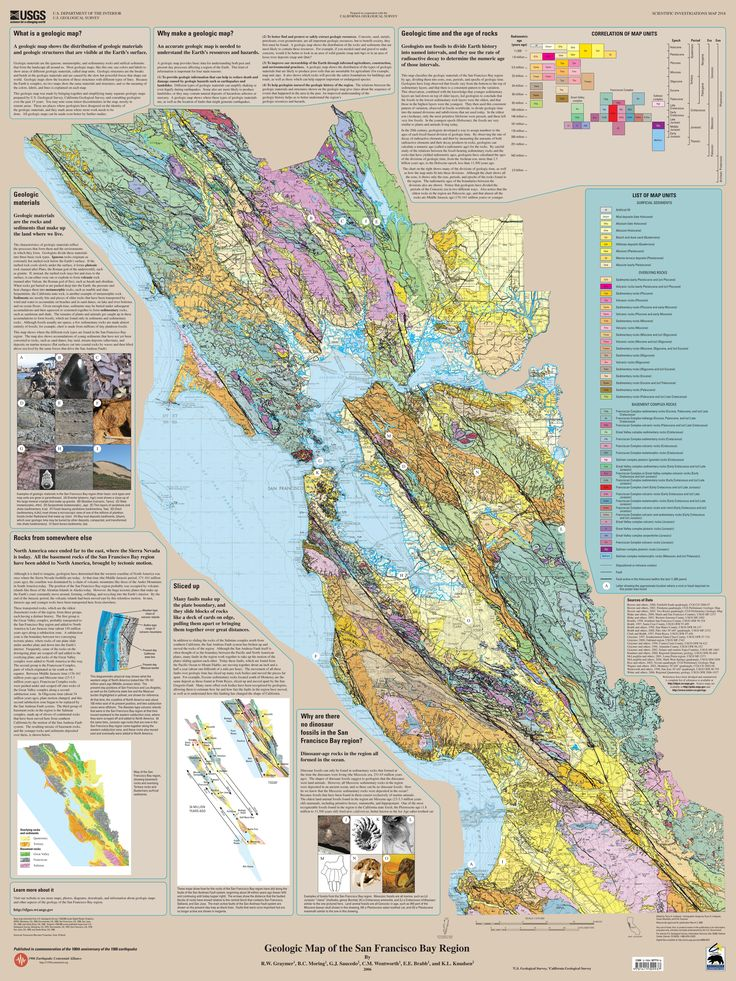 Geologic Map of the San Francisco Bay